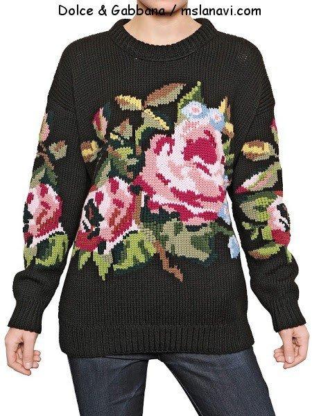 вязаный свитер спицами от Дольче-Габбана