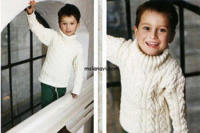 вязаный пуловер для мальчика