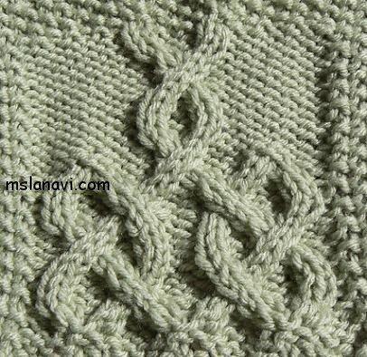 рельефный узор спицами кельтский узор