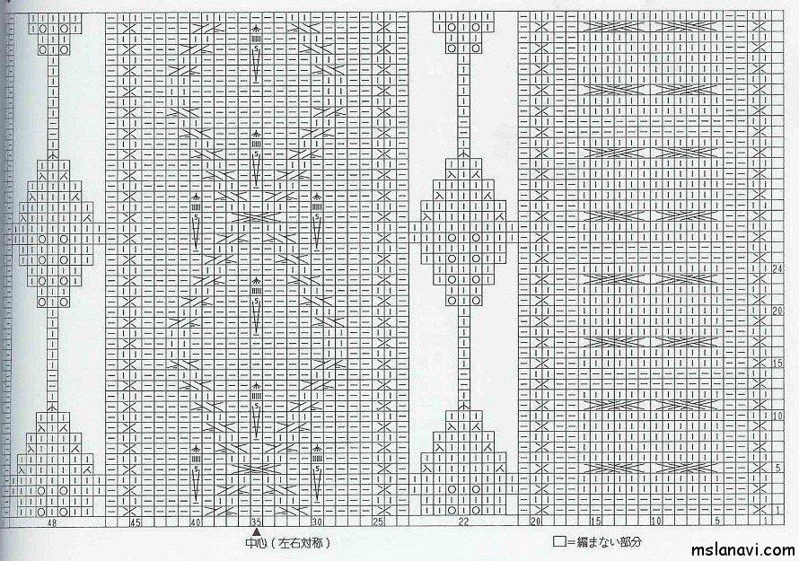 рельефный узор спицами схема 29