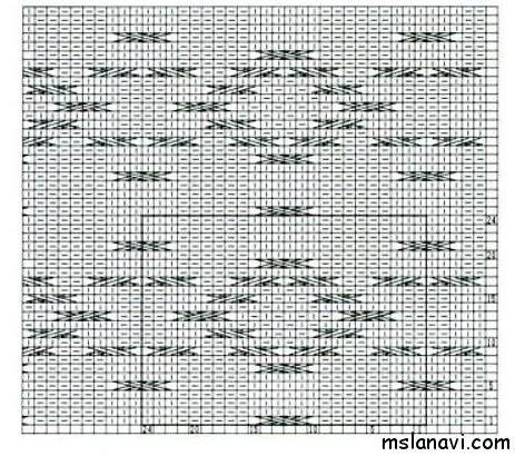 вяжем араны спицами схема
