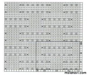 узор спицами схема 61