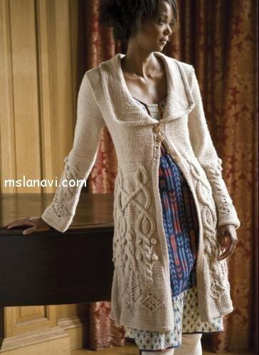 Пальто спицами - схемы и обозначения