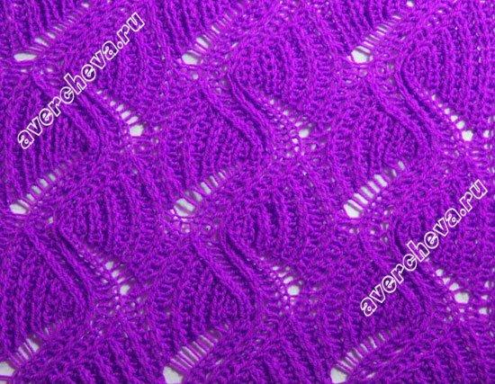 свитер с интересным узором - узор спицами
