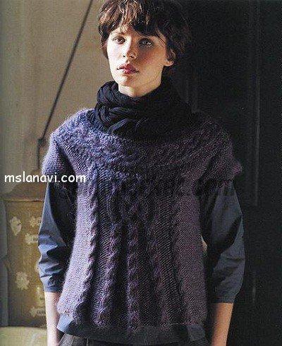 Пуловеры с центральной косой