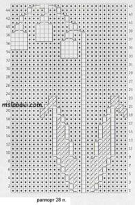 узор ландыши спицами схема 2