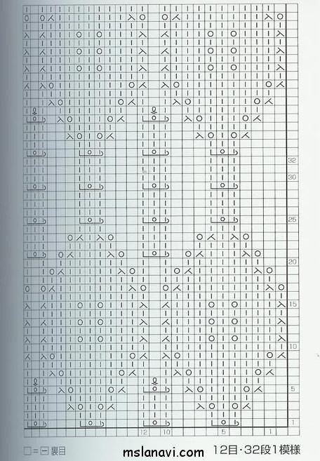 ажурный узор спицами схема 76