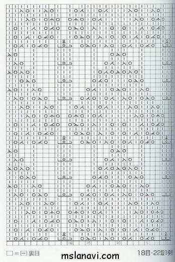 ажурный узор спицами схема 78