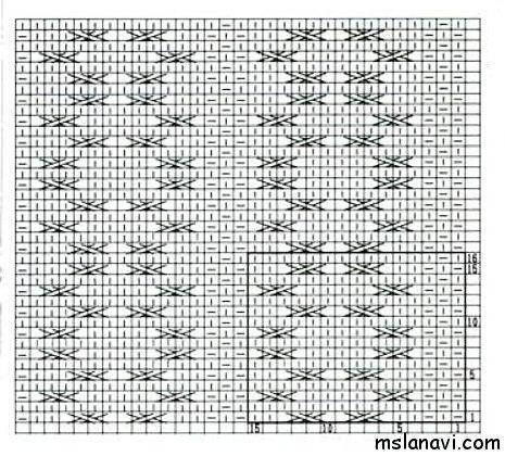 вязание узоры схема 64