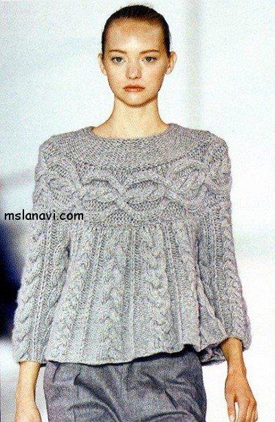 Женский вязаный свитер Шамони
