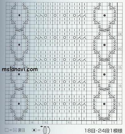 ажурный узор спицами схема 80