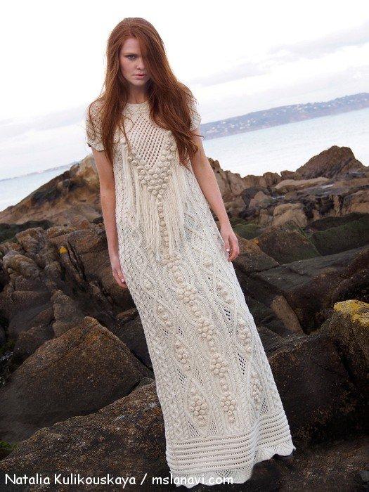 вязаное платье спицами Natalia Kulikouskaya