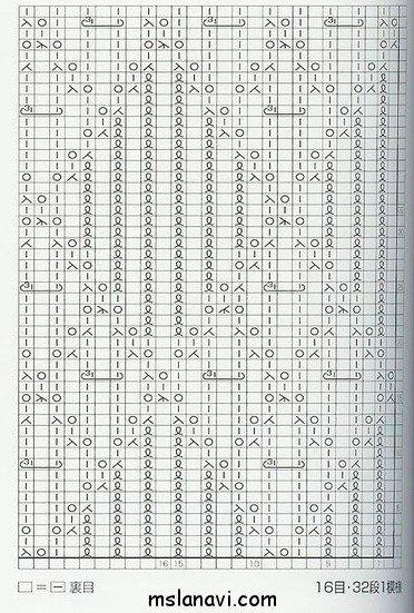 ажурный узор спицами схема 99