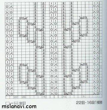 вязание узор со схемой101
