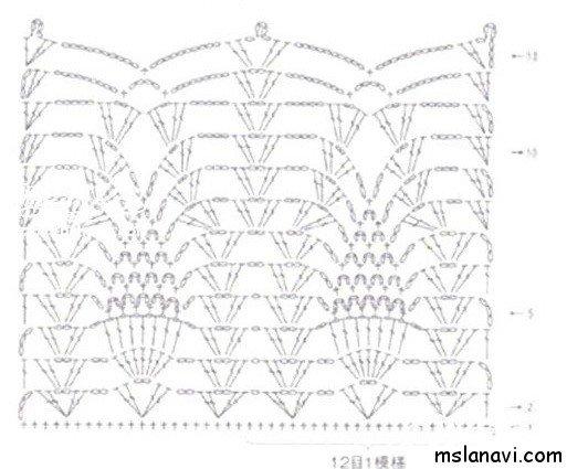 Туника связанная спицами со схемой