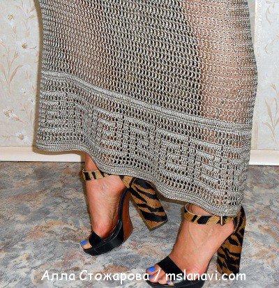 Ажурные платья крючком от Аллы Стожаровой