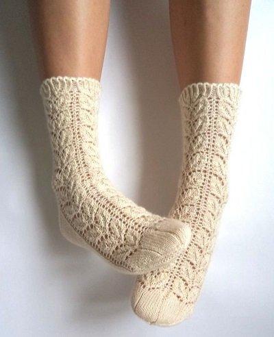 Красивые вязаные носки фото