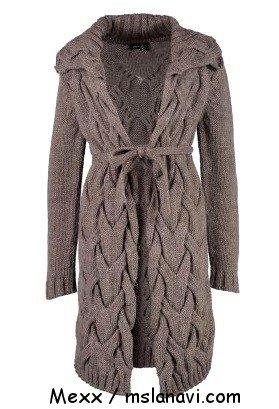 Вязаные пальто и кардиганы спицами