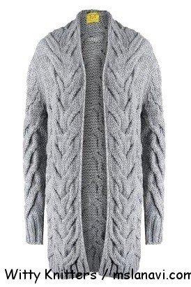 вязаные пальто +и кардиганы спицами Witty Knitters 150