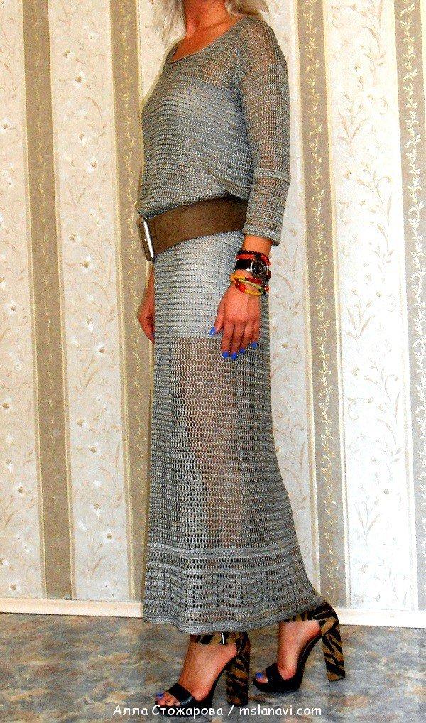 красивые платья крючком со схемами