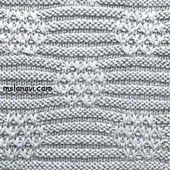 Рельефный узор спицами №103