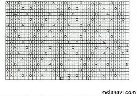 Ажурный узор спицами №148