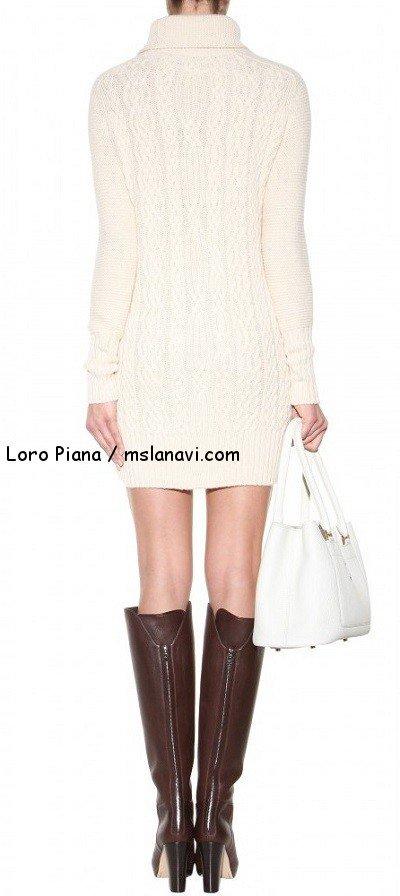 Вязаные модели спицами для женщин от Loro Piana