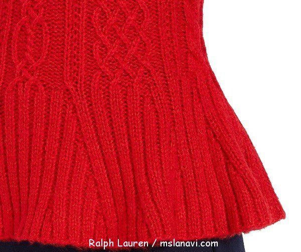 Вязаный пуловер спицами схемы Ralph Lauren