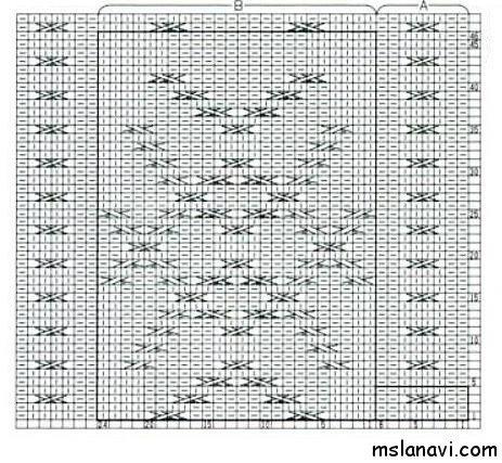 Рельефный узор спицами №108