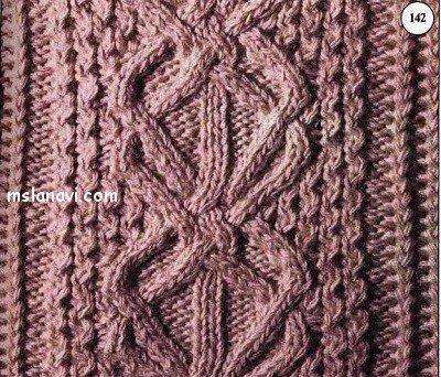 Рельефный узор спицами №106