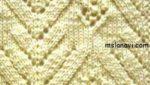 Японский ажурный узор спицами №146