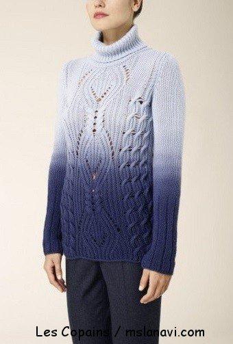 Модный вязаный свитер от Les Copains