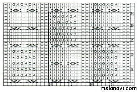 Японский узор спицами со схемой №150