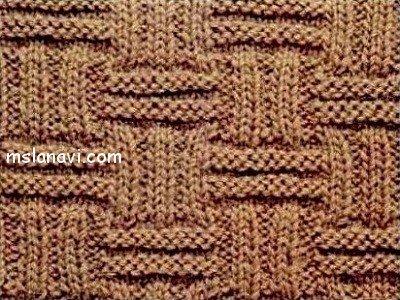 Рельефные узоры спицами со схемами №112