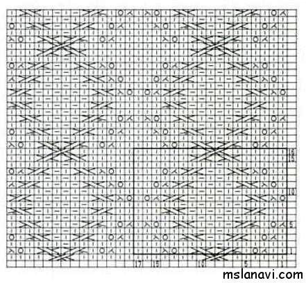 Рельефный узор спицами №117