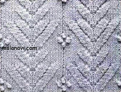 вязаные рельефные узоры спицами
