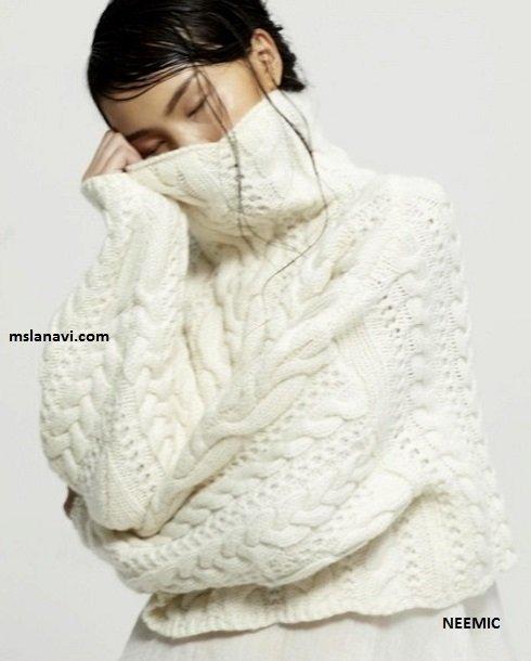 Модный свитер с аранами схема к основному мотиву