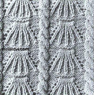 Вяжем рельефный узор спицами 119