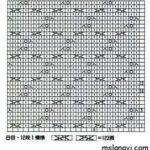Рельефный узор для вязания спицами схема