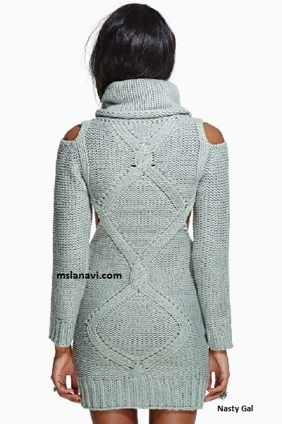 Теплое вязаное платье спицами от Nasty Gal