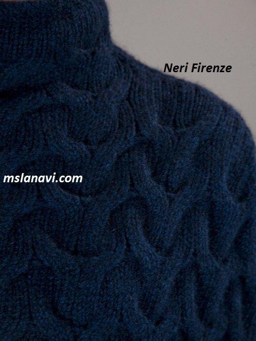 Вязаный жилет спицами схема Neri Firenze