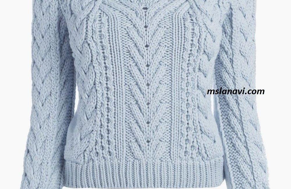 Модный свитер спицами схема