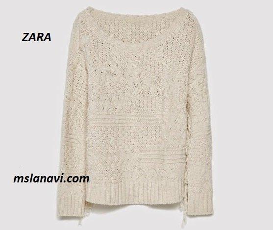 Вязаный модный свитер
