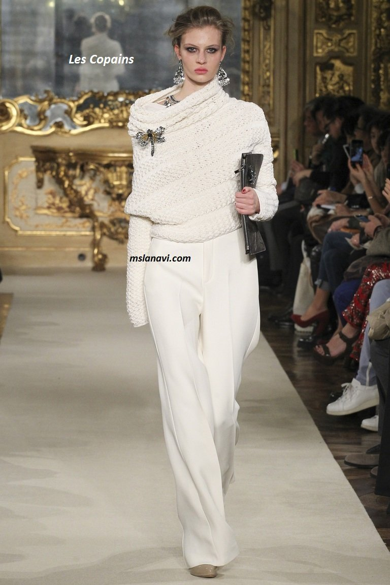 Модный вязаный пуловер от les-copains