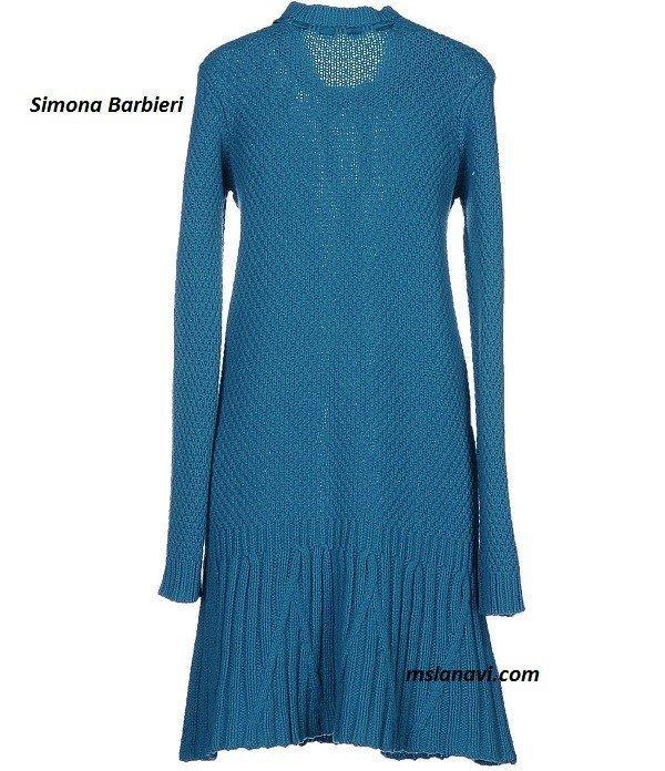 Вязаное платье спицами для женщин от Simona Barbieri