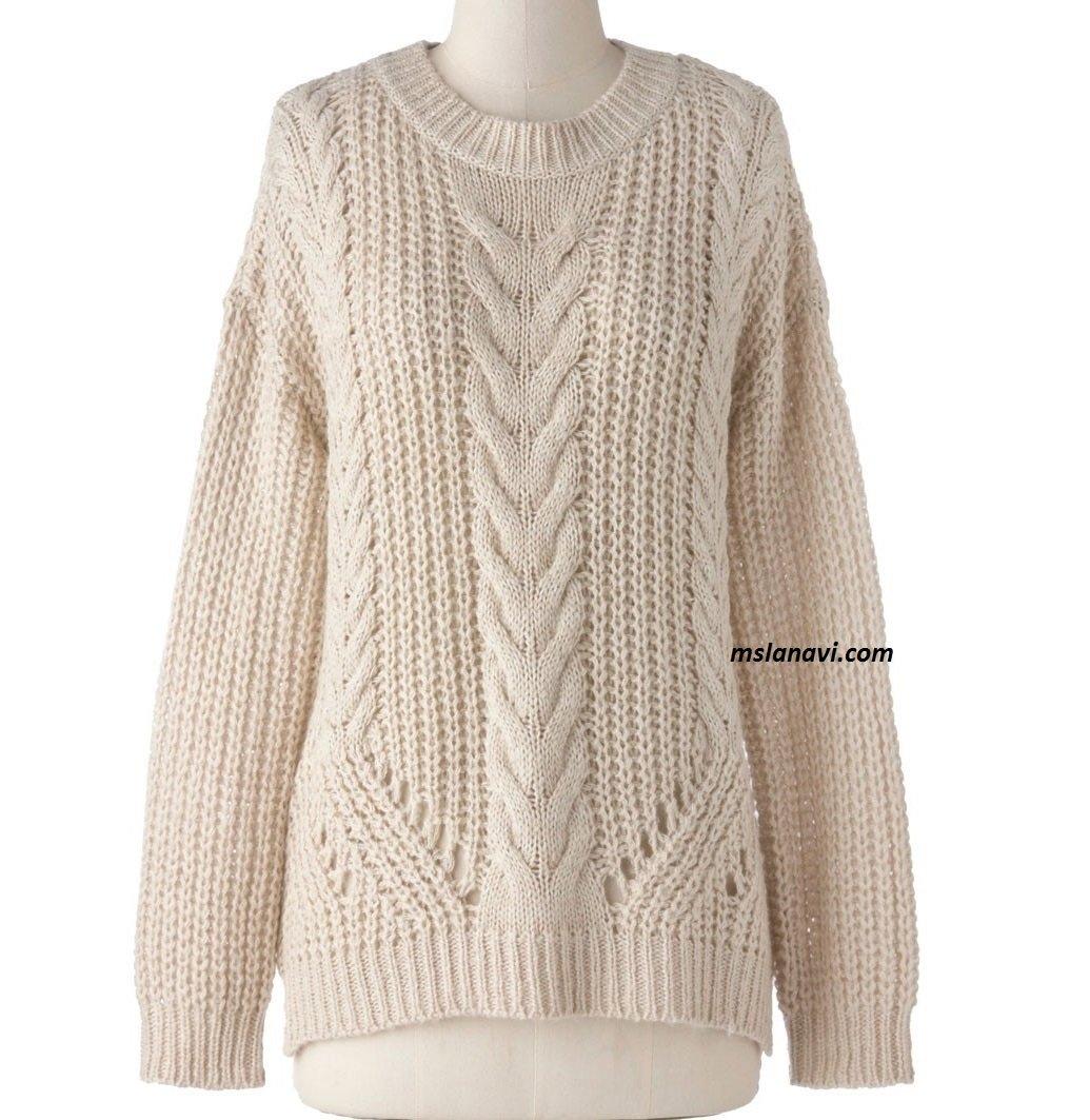 свободный вязаный свитер