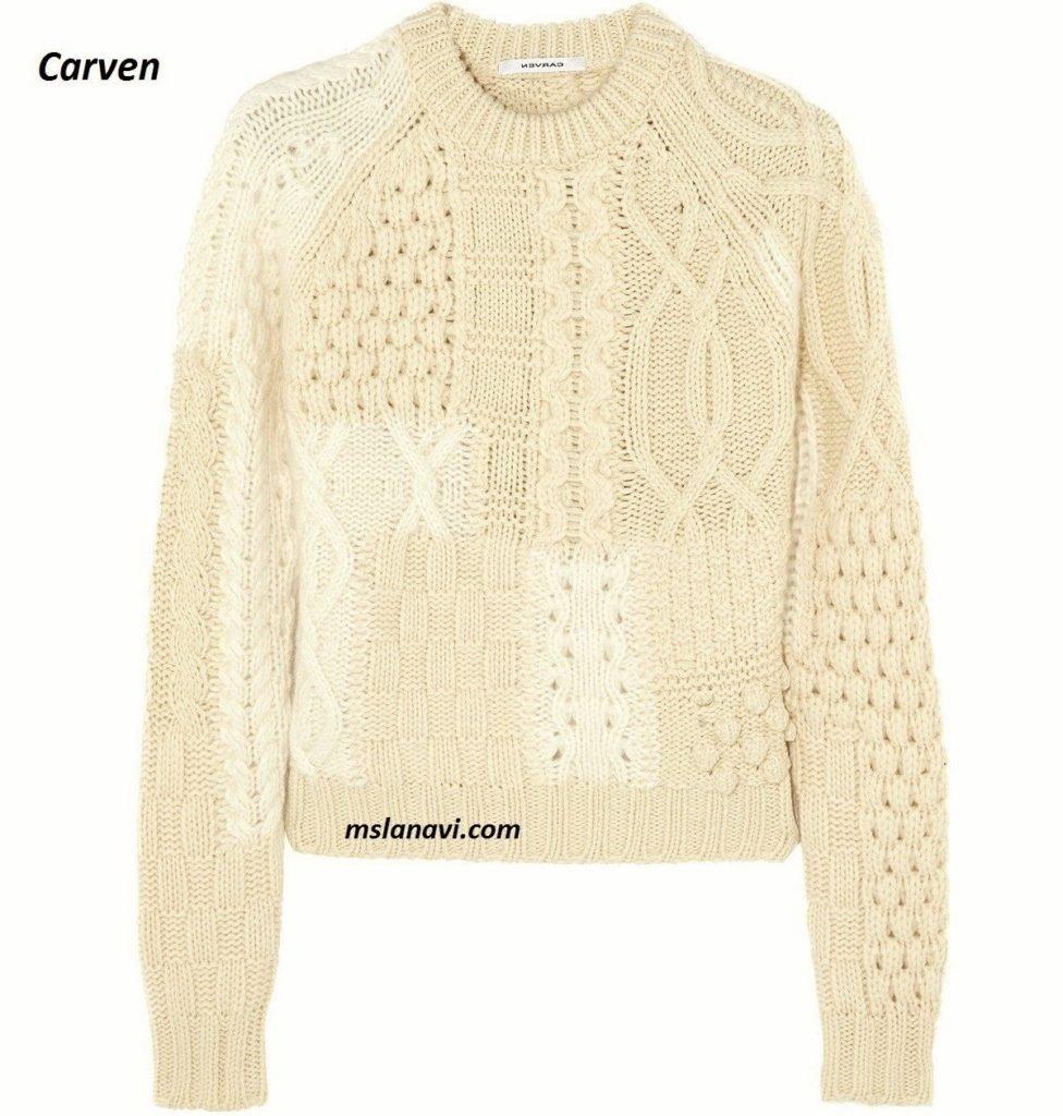 Модный пуловер спицами