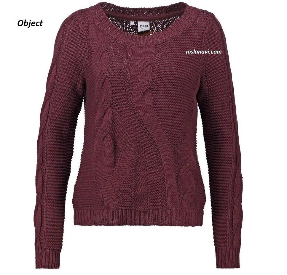 Вязаный пуловер спицами от Object OBJRANDY