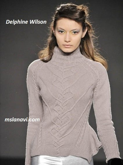 фото вязаных моделей спицами от Delphine Wilson 2