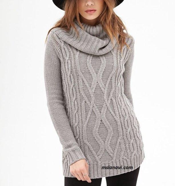 Вязаные пуловеры спицами
